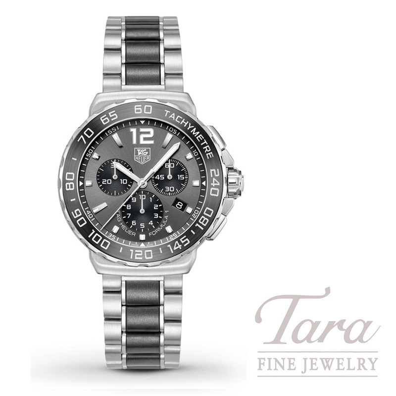 """Tag Heuer Watch 42mm Formula 1 Chronograph, Anthracite """"Sunray Effect"""" Dial"""