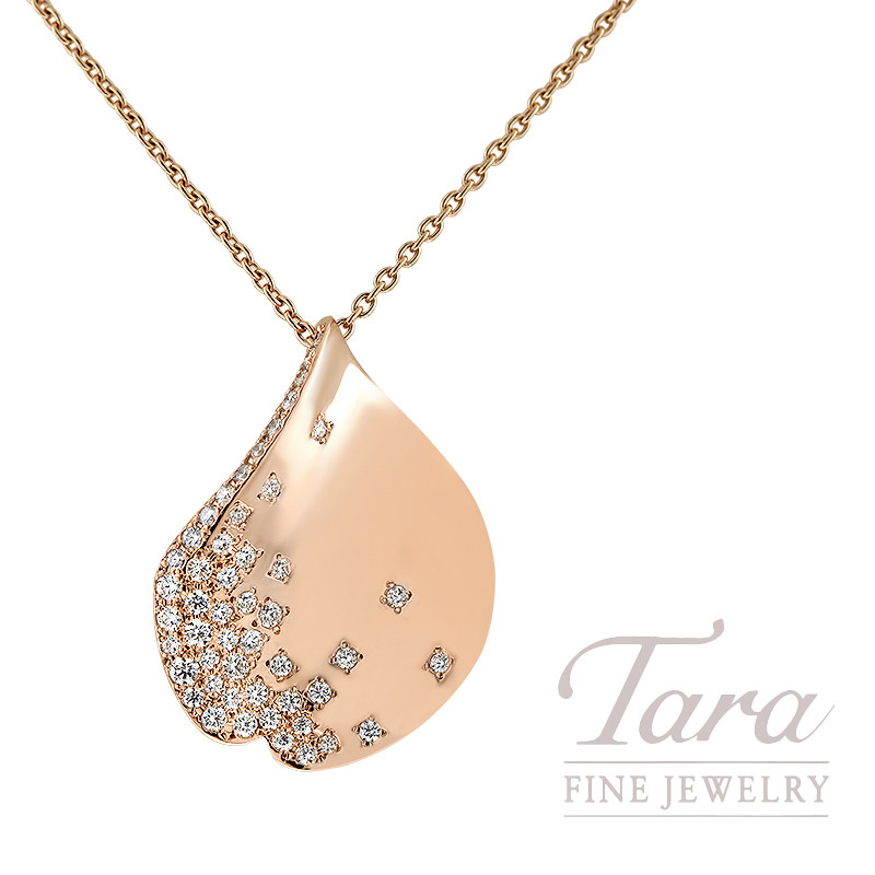 """Mikimoto Les P?tales de Ginza 18K Rose Gold and Diamond 27.5"""" Adjustable Necklace, 0.36TDW"""