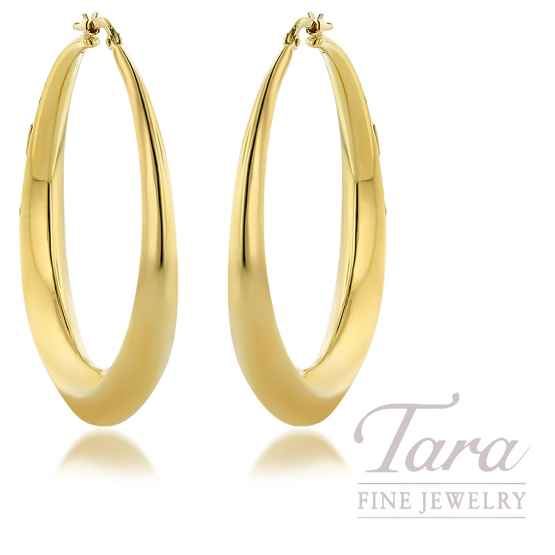Roberto Coin 18K Yellow Gold Chic & Shine 50mm Earrings, 11.G