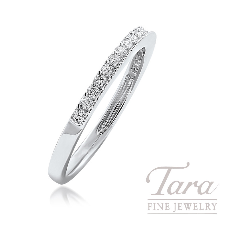 18K White Gold Diamond Band, 2.0G, .25TDW