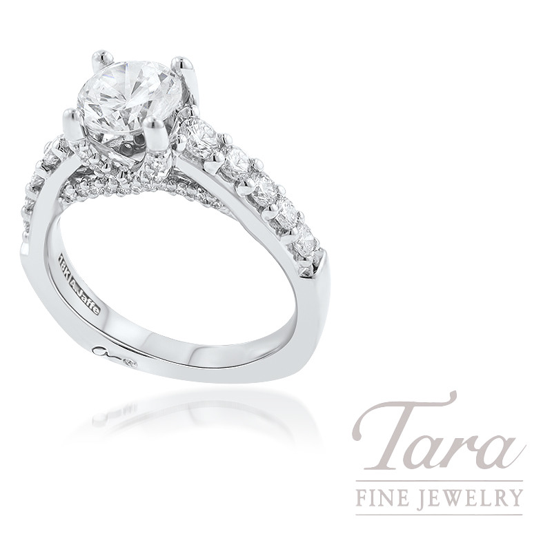 A. Jaffe 18k White Gold Diamond Engagement Ring, 7.0G, .83TDW (Center Stone Sold Separately)