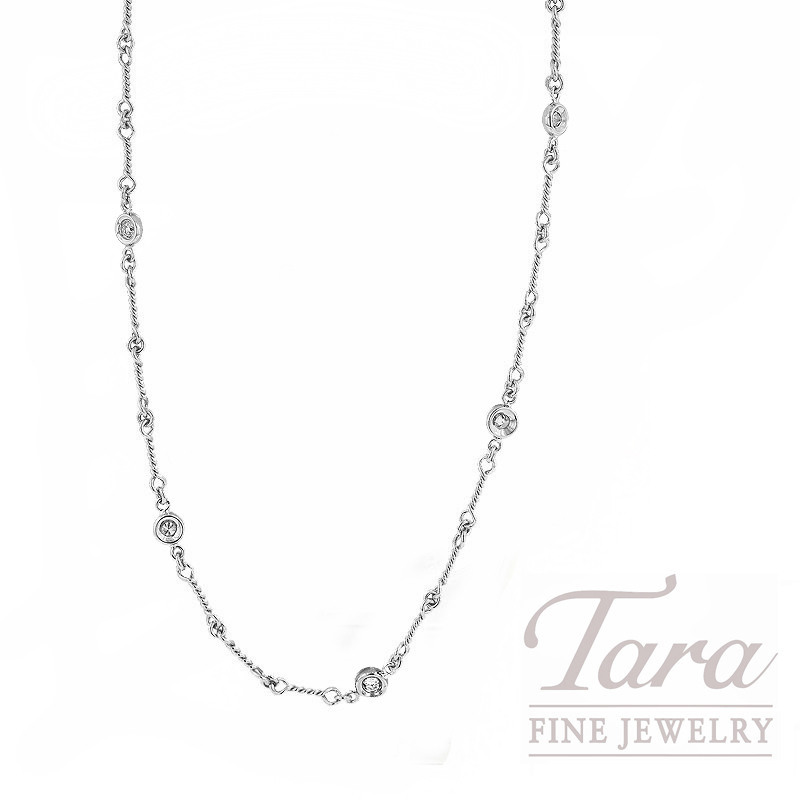 Roberto Coin 18K White Gold Diamond Stations Necklace - Click for Available Sizes!