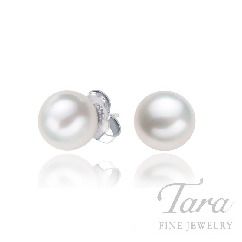 Mikimoto Pearl Stud Earrings in 18K White Gold - Click for Availability!