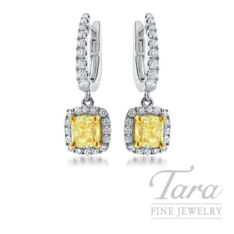 Forevermark 18K Two-Tone Yellow Diamond Earrings, 1.33TDW