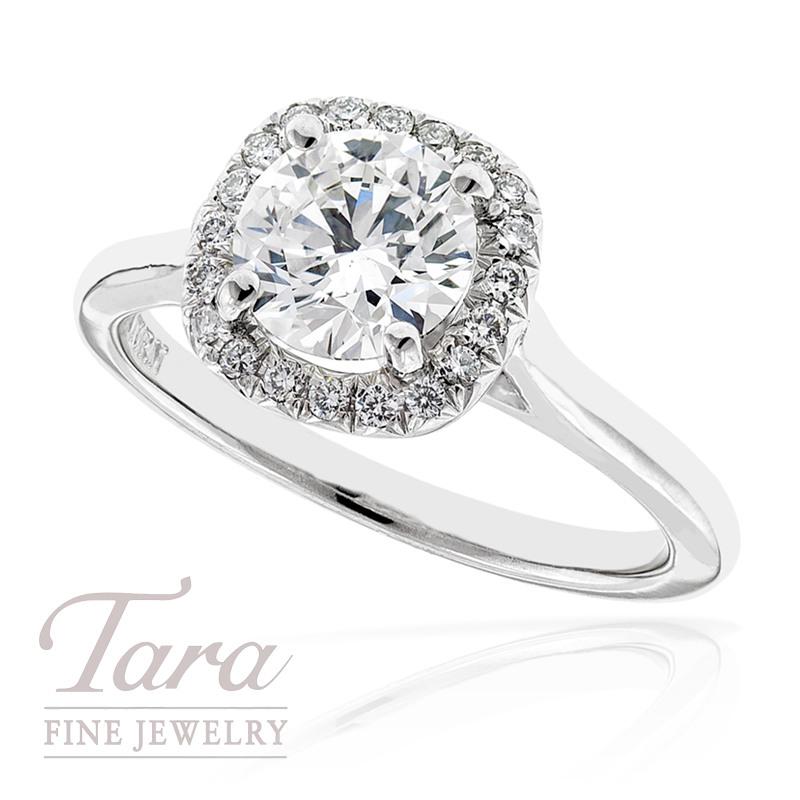 Diamond Engagement Ring in 18k White Gold, .15tdw, 3.9G (Center stone sold separately)