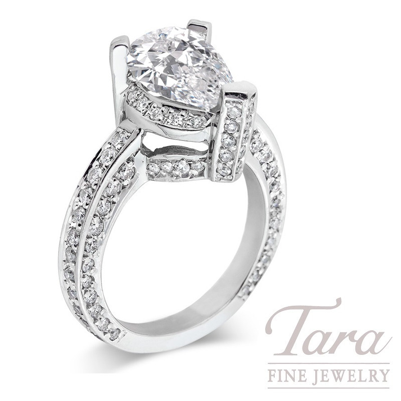 Platinum Diamond Engagement Ring, 1.20TDW (Center Stone Sold Separately)