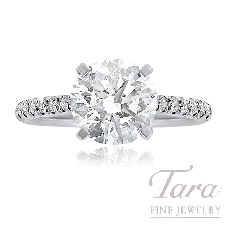 J.B. Star Diamond Engagement Ring, 3.20CT Forevermark Diamond, 6.3G, .38TDW (Center Stone Sold Separately)
