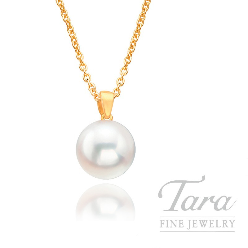 Mikimoto Akoya Pearl Pendant in 18K Yellow Gold