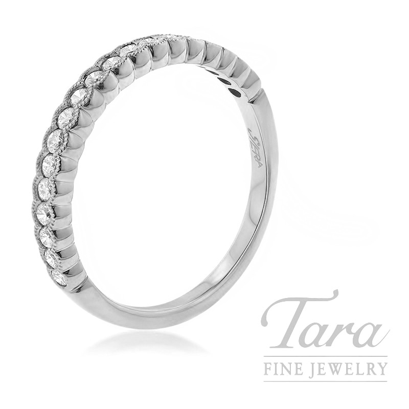18K White Gold Diamond Stackable Ring, 2.2G, .30TDW