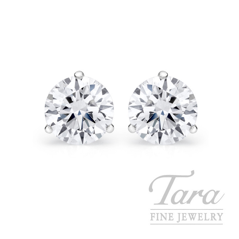 Diamond Martini Stud Earrings in 18k White Gold - Click for Availability!