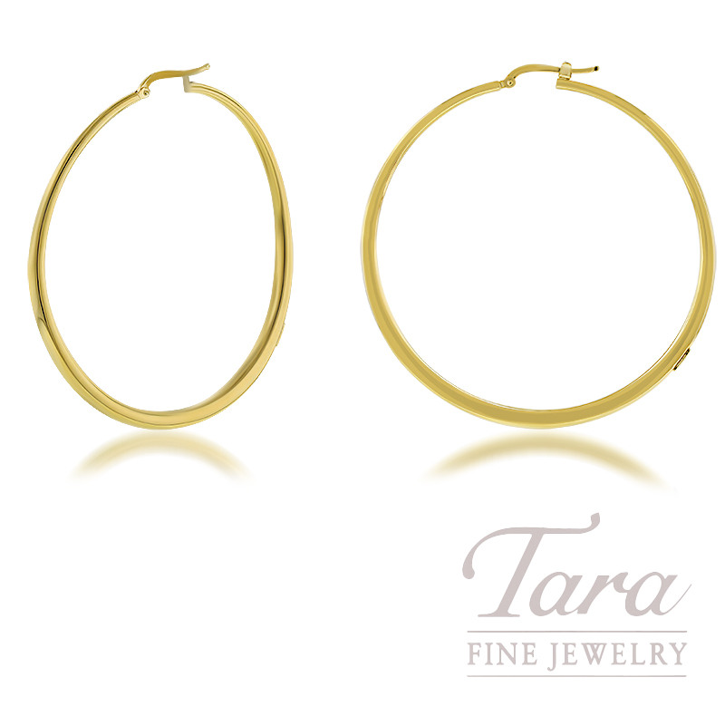 Roberto Coin 18K Yellow Gold Chic and Shine Large Curved Hoop Earrings
