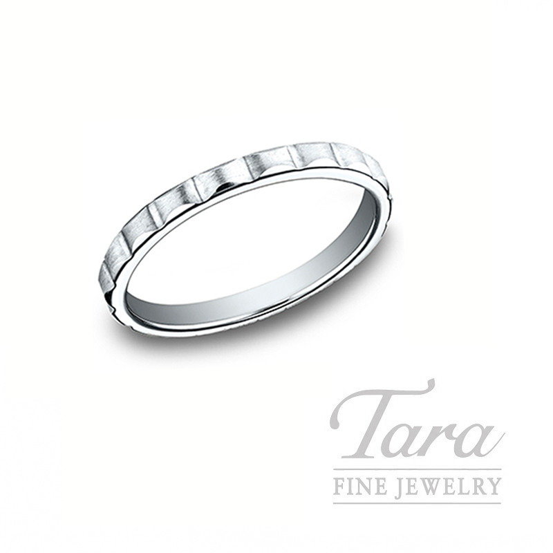 18k White Gold Stackable Band, 2.8G