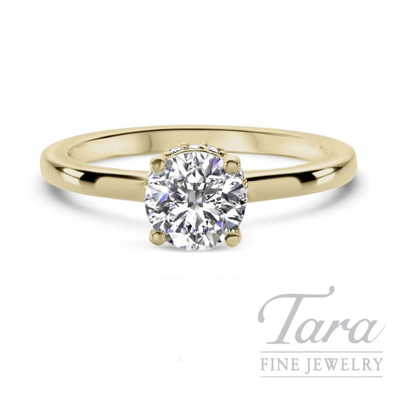 Ritani 18k Yellow Gold Diamond Engagement Ring, 3.7G, .10TDW (Center Stone Sold Separately)