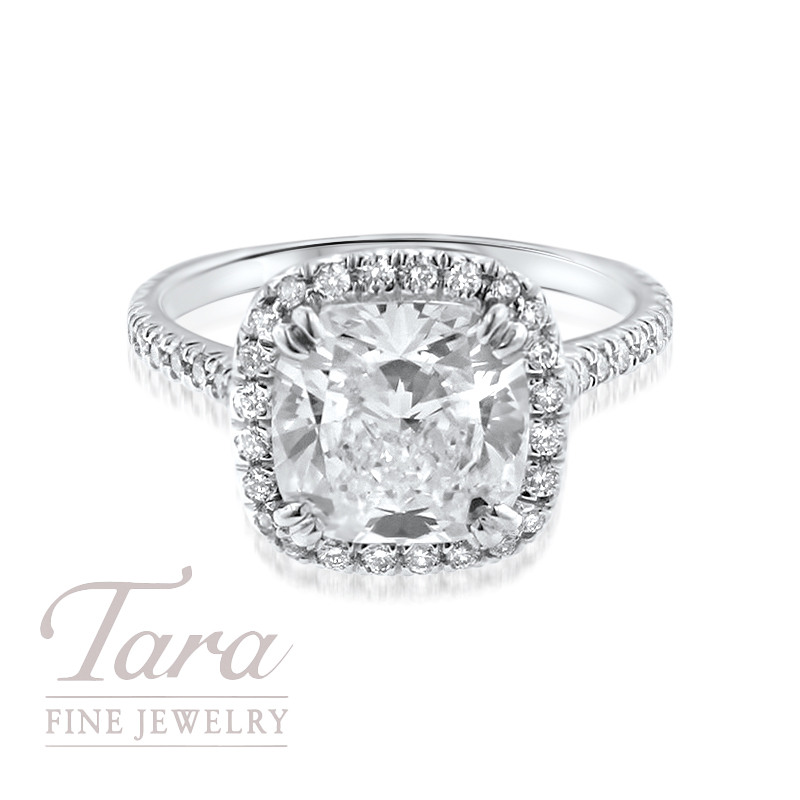 Diamond Engagement Ring in 18K White Gold .40TDW (Center Stone Sold Separately)