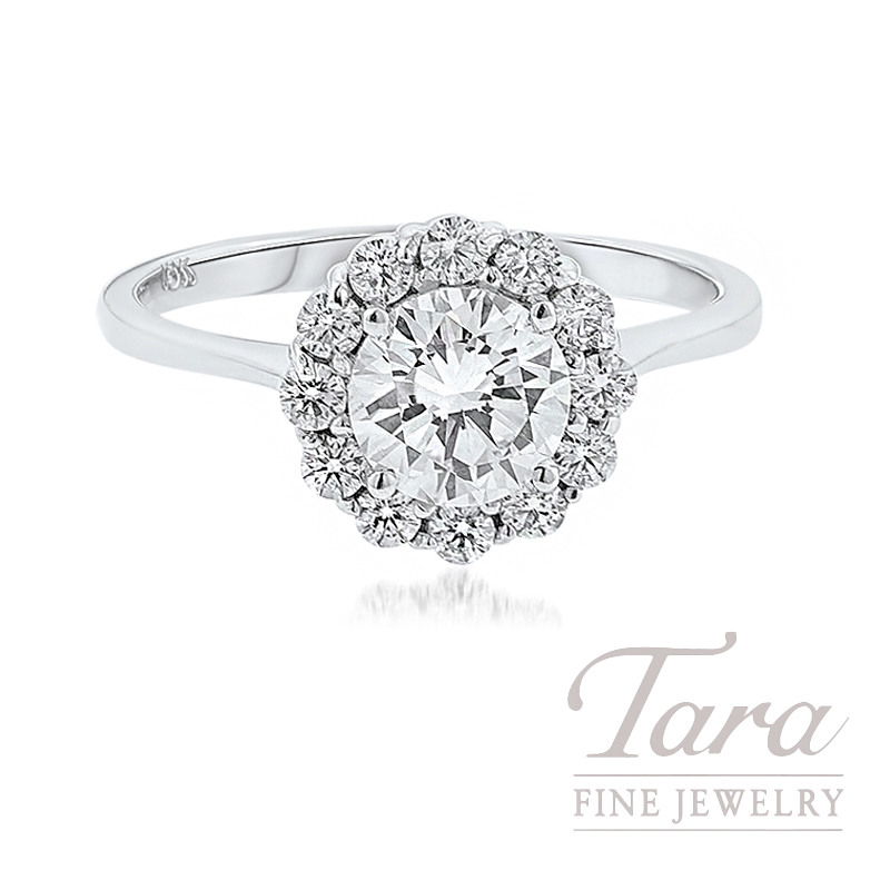 Forevermark Diamond Halo Engagement Ring, 1.01CT Round Diamond, .37TDW