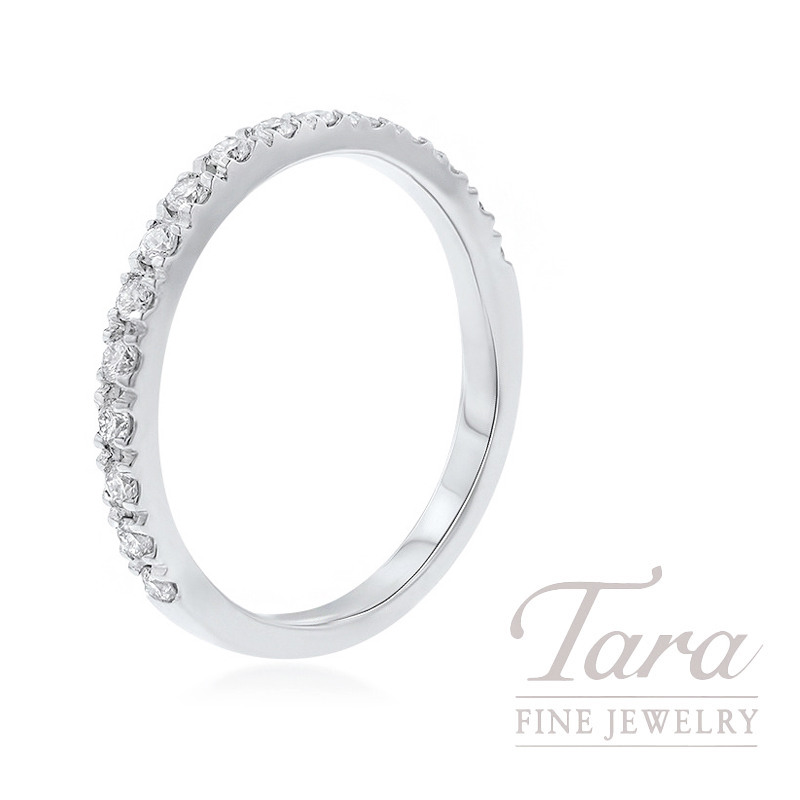 18K White Gold Diamond Band, 2.2G, .20TDW