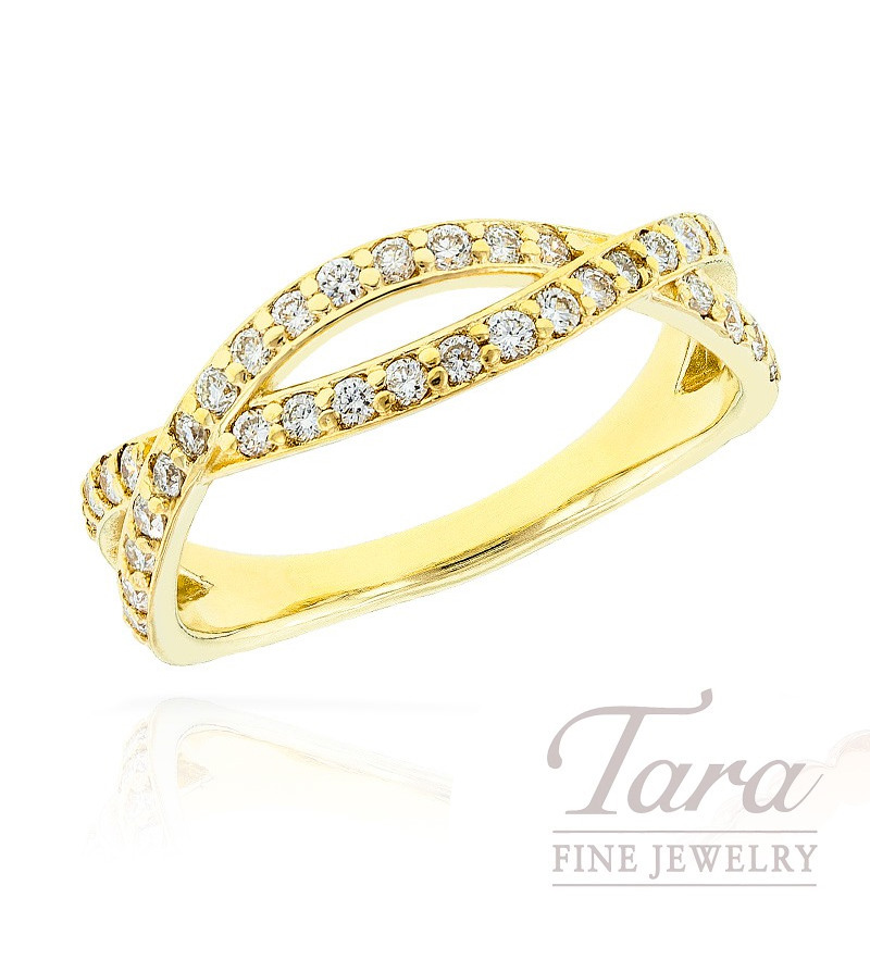 Diamond Ring in 18K Yellow Gold, .36 TDW