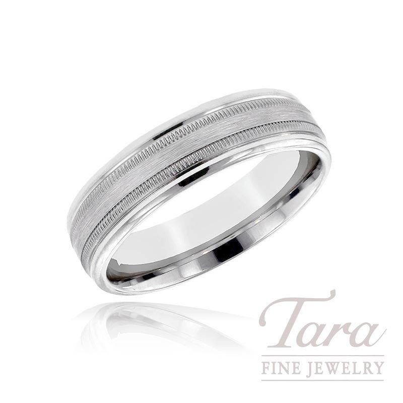 Mens 14k White Gold Wedding Band 96G 7mm Size 10 Tara Fine