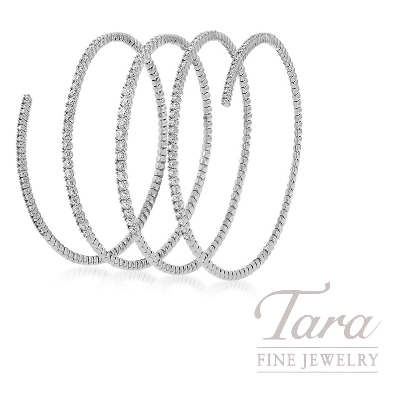18k White Gold Diamond Wrap Bracelet, 25.7G, 2.73TDW