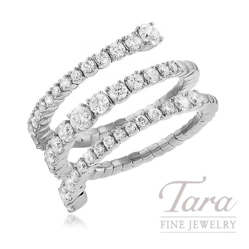 18K White Gold Diamond Wrap Ring, 5.8G, 1.31TDW