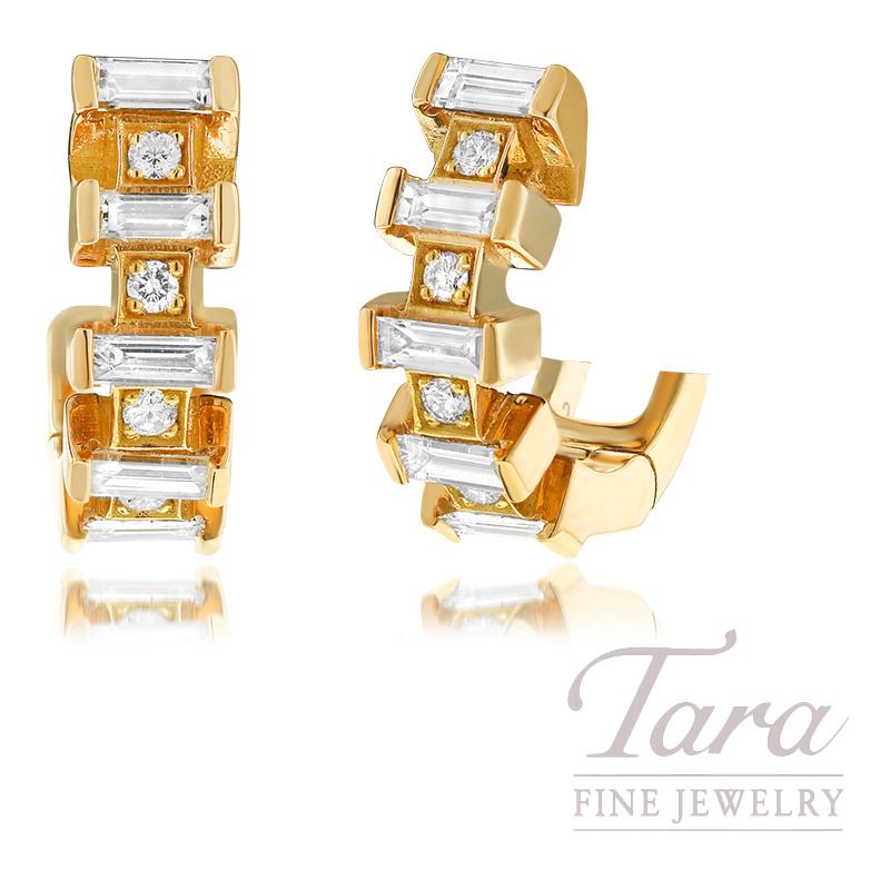 Norman Covan 18K Rose Gold Diamond Earrings, 0.60TDW