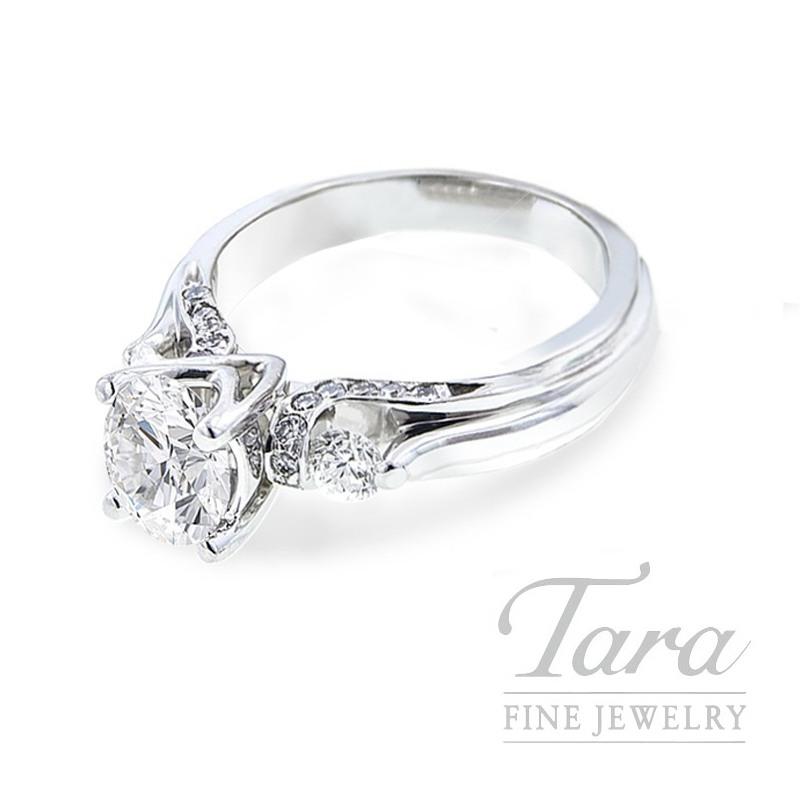 Verragio Platinum Diamond Engagement Ring, .40TDW (Center Stone Sold Separately)
