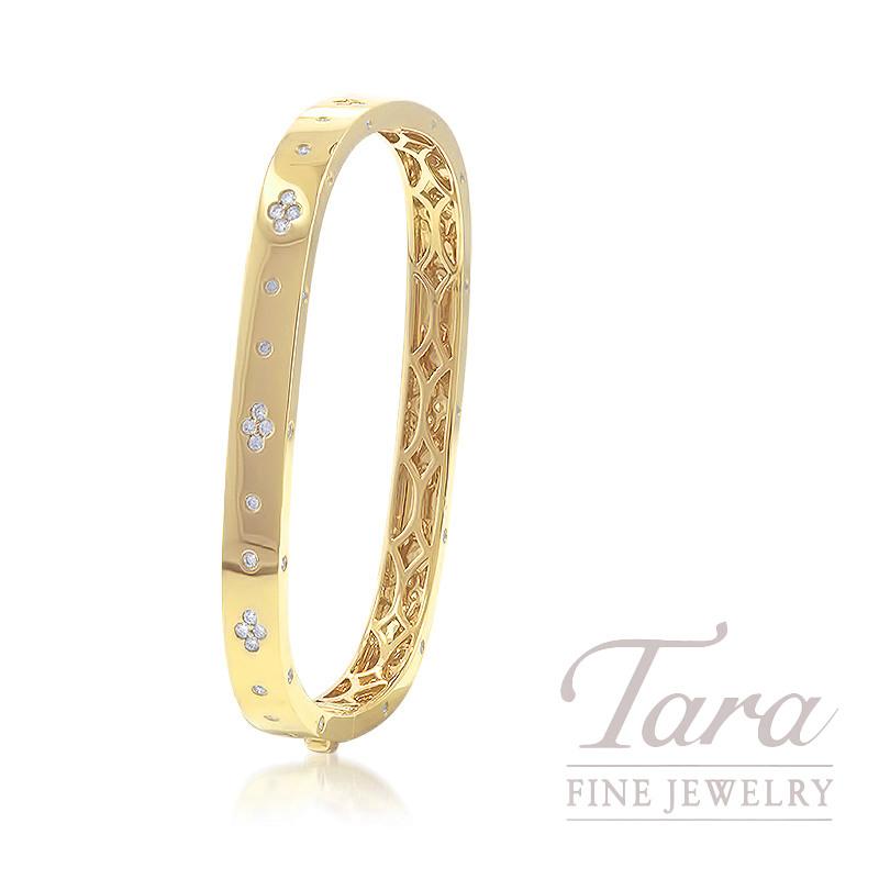 18K Yellow Gold Diamond Bangle, 26.6G, 1.00TDW