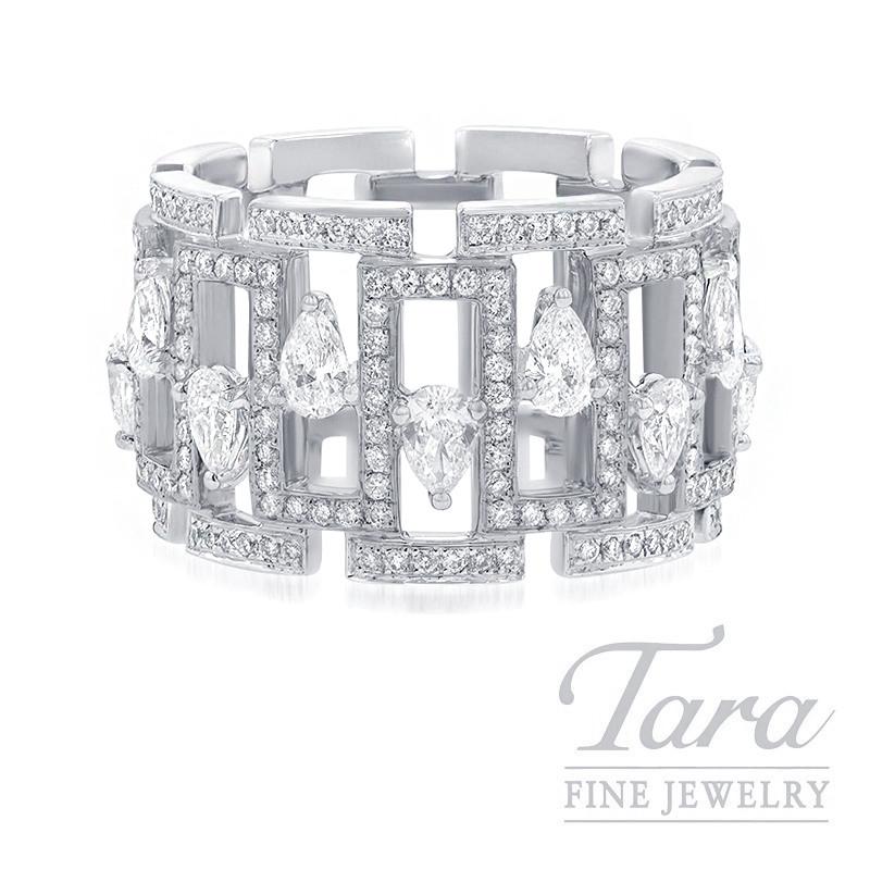 18K White Gold Diamond Fashion Ring, 11.3G, 1.60TDW