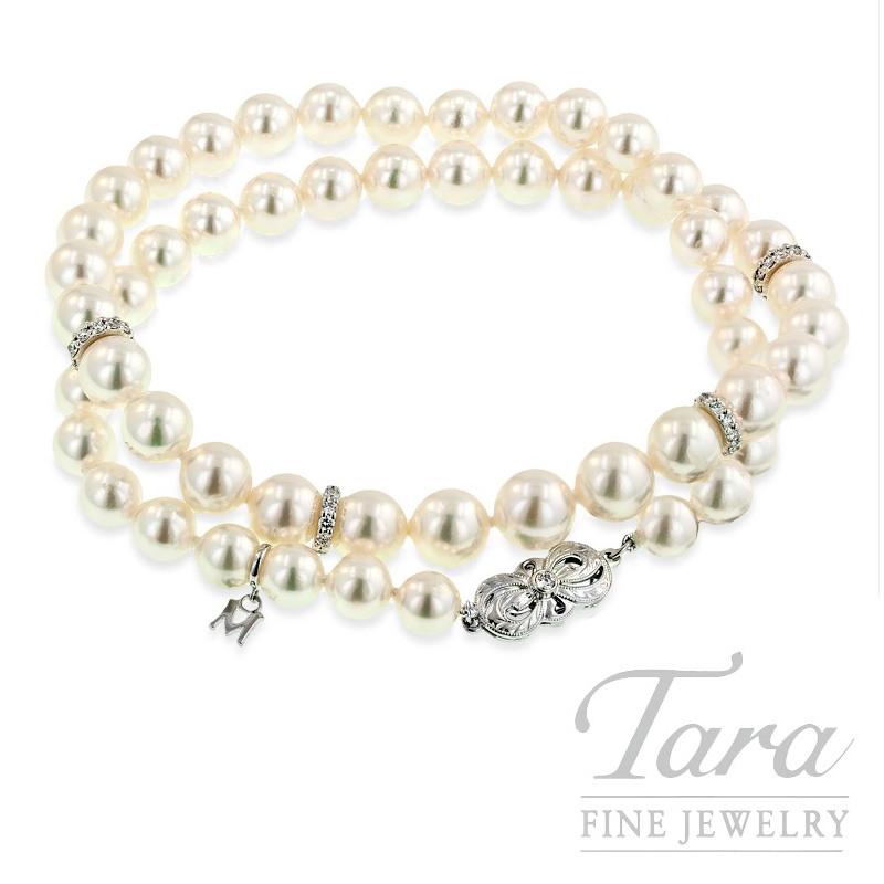 fdc2c0e6dcdc Mikimoto Pearl and Diamond Necklace