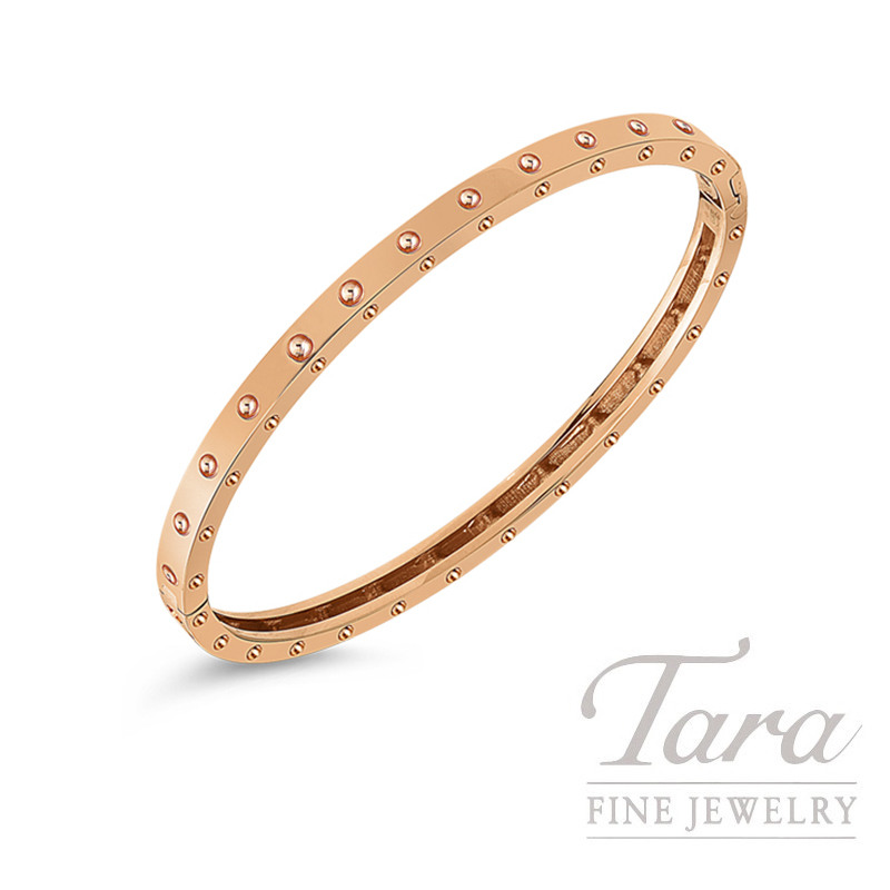 Roberto Coin 18K Rose Gold Pois Moi Oval Bangle, 12.5G, Pois Moi Collectoin