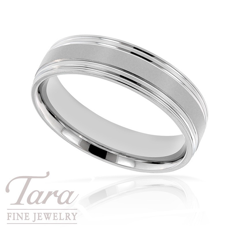 Gentlemen's 18k White Gold Wedding Band, 8.2G