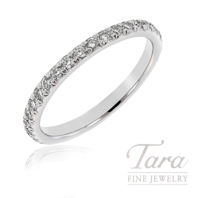 18k White Gold Diamond Band, 1.8G, .33TDW