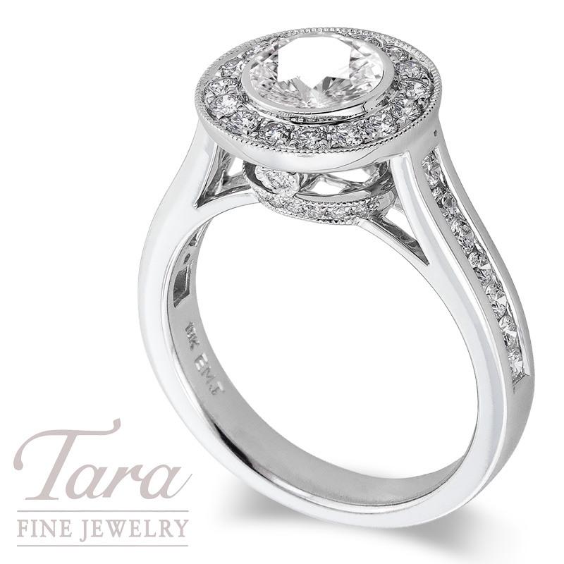 Diamond Engagement Ring in 18k White Gold .70 TDW (Center Stone Sold Separately)