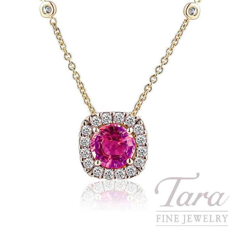 vashi main gs and white pink sapphire pendant in gold com diamond