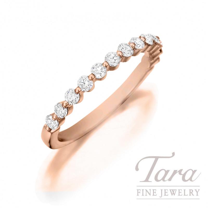 18K Rose Gold Diamond Stackable Ring, 1.2G, .24TDW