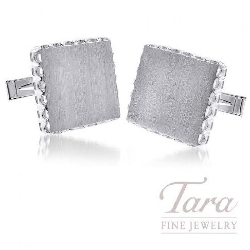 Men's Sterling Silver Cufflinks