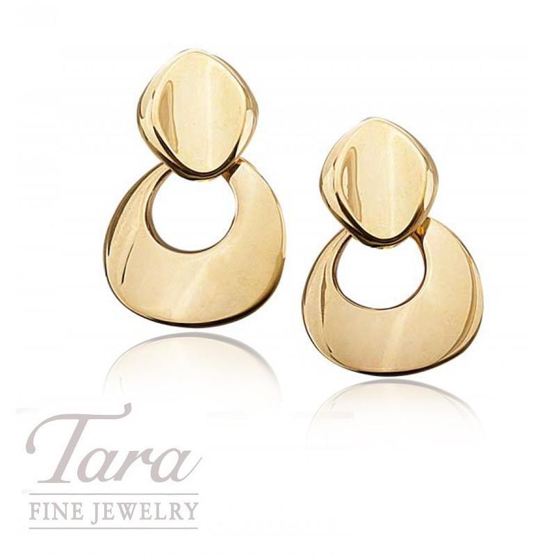 14k Yellow Gold Fashion Hoop Earrings, 12.7g