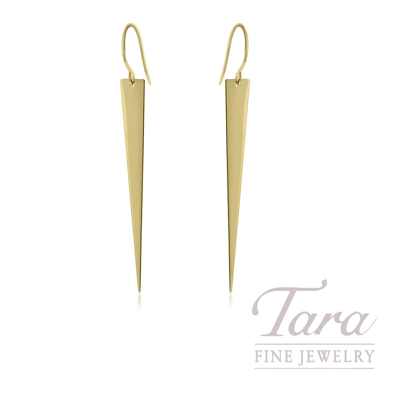 14K Yellow Gold Fancy Dangling Earrings, 2.7G