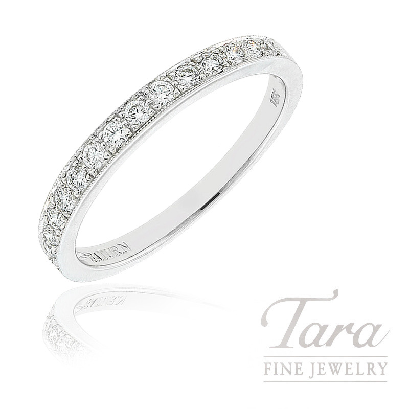 18k White Gold Diamond Band, 2.1G, .27TDW