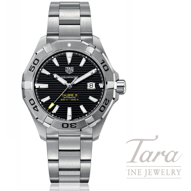Tag Heuer Watch 43mm Aquaracer Automatic, Black Dial