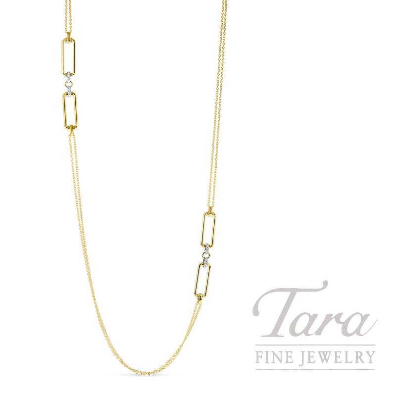 18KYW Diamond Classica Parisienne Necklace .55TDW