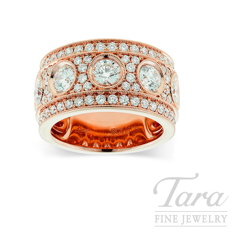 18k Rose Gold Diamond Band, 14.4G, 2.36TDW