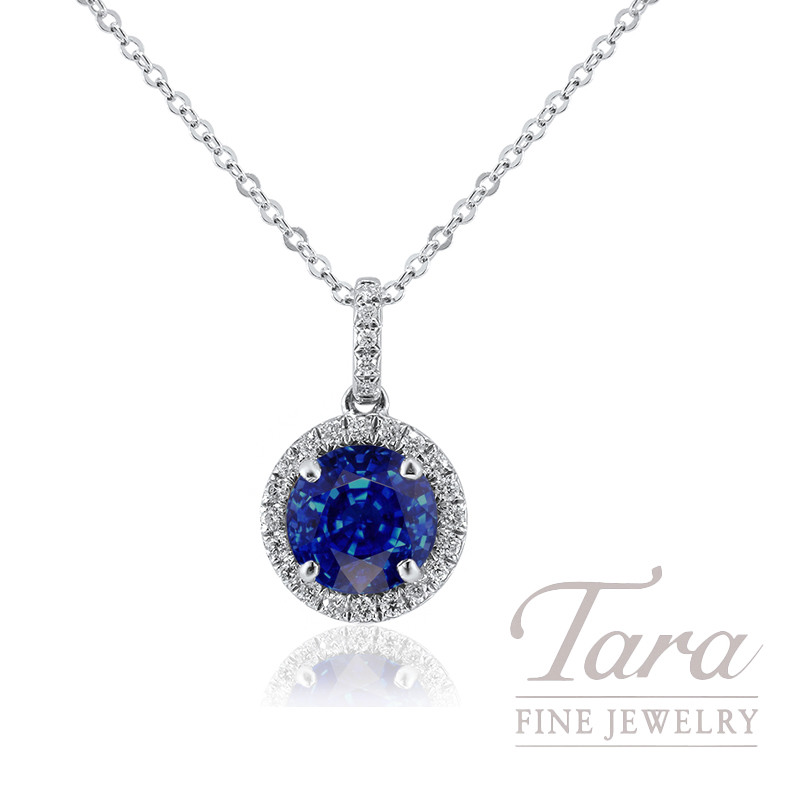platinum blue cushion com cut round pendant sapphire necklace diamond and kexxqbhl dp amazon