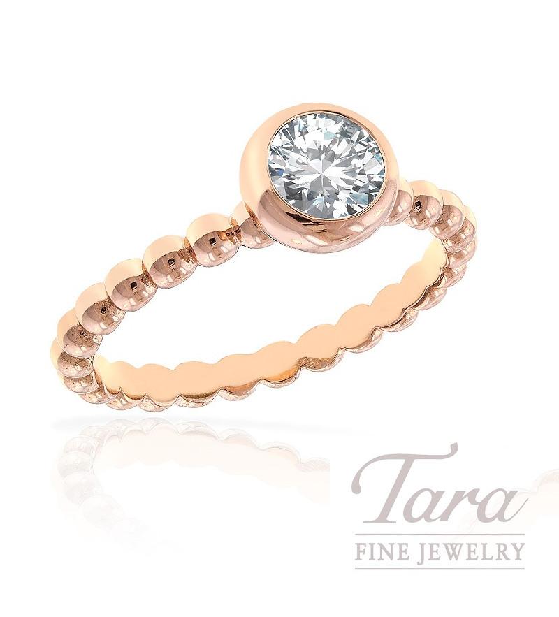 Diamond Ring in 18k Rose Gold, .63CT