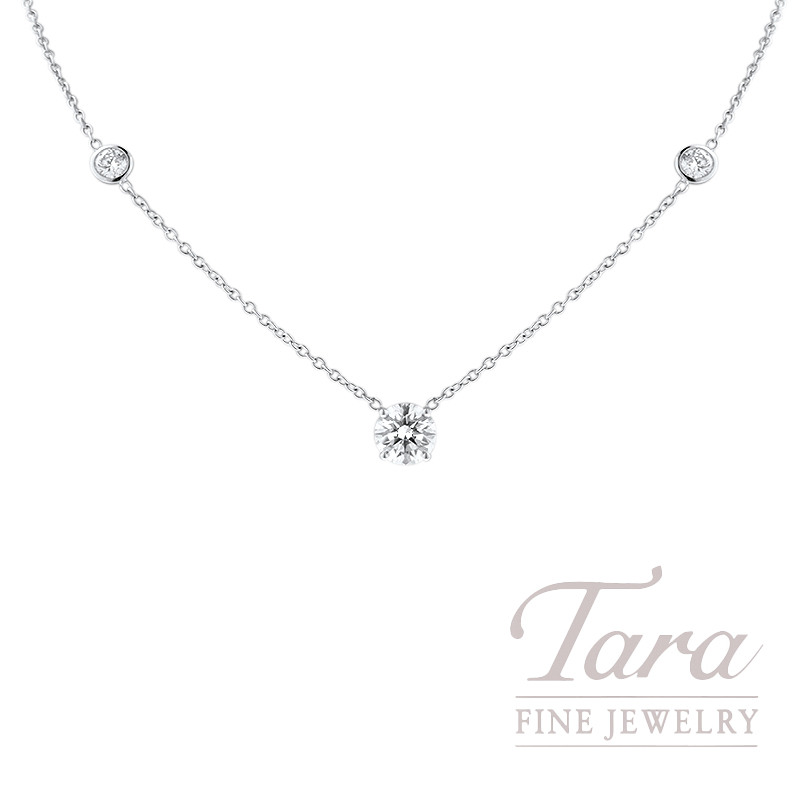 Foevermark 18k White Gold Diamond Necklace, 1.62CT J-VS2 Center, .66TDW