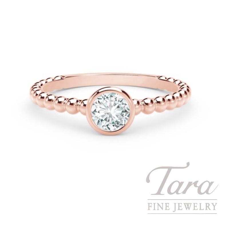 Forevermark 18K Rose Gold Diamond Bezel Ring, .23CT Forevermark Diamond