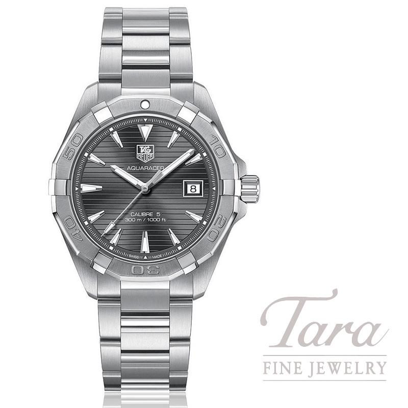 Tag Heuer Watch 40.5mm Aquaracer Automatic, Silver Dial