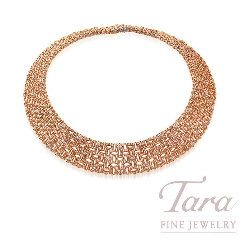 "Roberto Coin 18k Rose Gold Diamond Necklace, 2.12TDW, ""Barocco"" Collection"