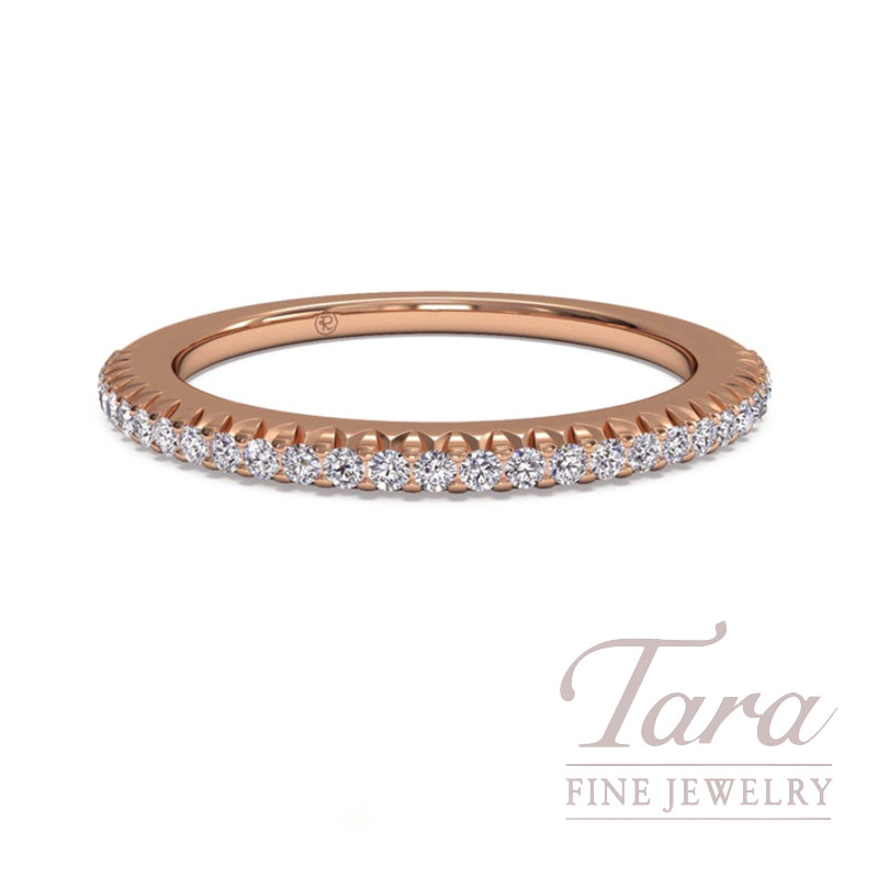 Ritani 18K Rose Gold Diamond Band, 2.1G, .18TDW