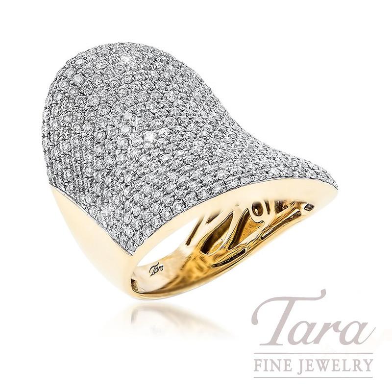 Ladies Diamond Fashion Ring in 18K Yellow Gold 3.10TDW